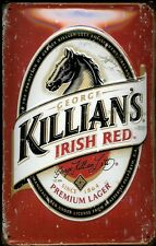 Blechschild Killians Lager Beer Irish red Pferd Bier Schild Nostalgieschild Pub