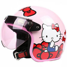 S-46 Scooter casco Cycling Motorcycle Pink bow-knot Hello Kitty Helmet UV W Lens