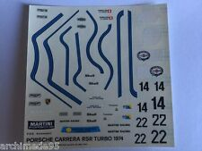 PORSCHE CARRERA RSR TURBO 1974 DECALS 1/43