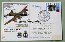 RAF COVER SIGNED BY LUFTWAFFE PILOT HAJO HERRMANN & RICHARD ALEXANDER USAF