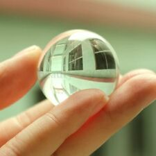 Asian White Clear Healing Magic Transparent Crystal Ball Sphere 30mm