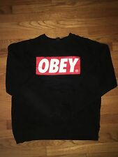 New Black Obey Sweater Size Small