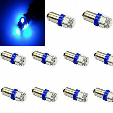 10x T11 BA9S T4W H6W 363 Blue 5 LED 5050 SMD Car Wedge Side Light Lamp Bulb 12V