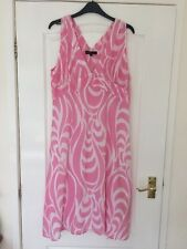 Great Plains Size Large Pink And White Cotton Dress
