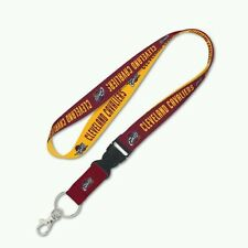 "CLEVELAND CAVALIERS LANYARD KEY CHAIN W/ DETACHABLE BUCKLE 1"" WIDTH 22"" LENGTH"