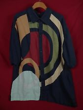 VTG PD Prestige Men's Casual Button Shirt Asymmetrical Geometric Design Size XXL