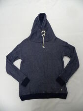 Roxy Women Apolo Bay Navy Blue L/S Pullover Crew Hoodie Sweatshirt Sz Medium