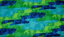 1 Yd SPX Children Quilt Fabric Frogs Frog Navy Lime Green Blue Swimming Water