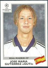 PANINI UEFA CHAMPIONS LEAGUE 1999-00- #199-REAL MADRID-JOSE MARIA GUTIERREZ