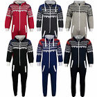 Kids Girls Boys Onesie Aztec Snowflake Print All In One Jumpsuit PJ's Nightwear
