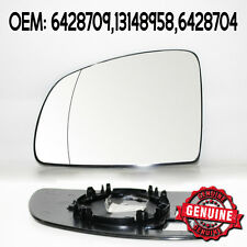 Original Left Side Wide Angle Wing Mirror Glass For Opel Vauxhall Meriva 03-10