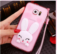 3D Cute Cartoon Soft Silicone Gel Stand Shockproof Case Cover For Samsung Galaxy