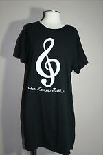"Hatley Night Shirt One Size Black  ""Here Comes Treble"" Music Stinkin' Cute!!!"