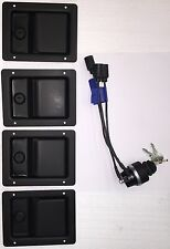 HUMVEE SECURITY KIT - Black Locking Door Handles & Keyed Ignition Switch