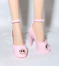 SHOES ~ BARBIE DOLL HIGH HEEL MODEL MUSE SWEET TEA PINK ANKLE STRAP PEEP PUMPS