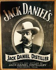Jack Daniel's Portrait TIN SIGN Whiskey vtg Metal Wall Decor Western Pub
