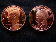 1 Ounce .999 Copper Round John F and Jacqueline Kennedy(2 Coins)