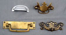 Lot of 4 Drawer Pulls for Furniture Restoration Brass Aluminum Handles Cabinet