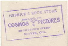 DENVER TRADE CARD HERRICK BOOK STORE 934 15th ST **NOW ON SALE** TC2057