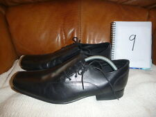 F&F FLORENCE & FRED MENS BLACK LEATHER SHOES SIZE UK 9