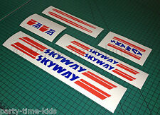SKYWAY TA Frame & Forks Decal Set Custom Stickers Old School Bmx  Stickers Only!