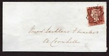 Part wrapper with 1d red cancelled by London No 6 in cross pmk ( R B )
