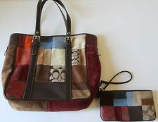 NEW Authentic Limited Edtion Coach Patchwork Tote & Matching Wallet Purse Bag