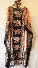 "Woman clothing Kaftan Long dress Gown One Size Plus Doesn""t Come S M L 1X 2X  3X"