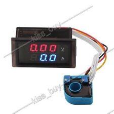 DC 100V 20A Digital LED Voltmeter Amperemeter Charge /discharge Monitor 12V 24V