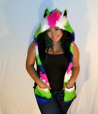 FAUS FUR KANDY COLOR ANIMAL HAT WITH LONG PAWS