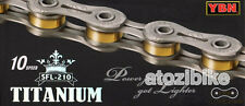 New YBN SFL 210 Titanium 10 Speed Bike Chain Cycling for SHIMANO SRAM Only 210g