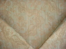7Y SCHUMACHER SAGE FRENCH PROVINCIAL FLORAL LATTICE DAMASK UPHOLSTERY FABRIC