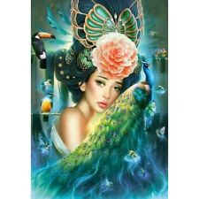 NEW! Castorland Lady with a Peacock 1000 piece fantasy jigsaw puzzle