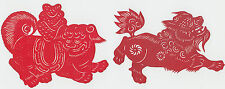 2 x Chinese cut-outs on very thin red paper