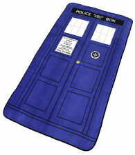 DOCTOR WHO TARDIS FLEECE THROW BLANKET 127 X 226 CM OFFICIAL BBC BRAND NEW