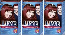 Schwarzkopf LIVE Intense 043 Red Passion Pro Permanent Hair Colour Dye x 3