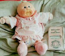 1980s Vintage CABBAGE PATCH Preemie Girl Doll With Adoption Papers Original