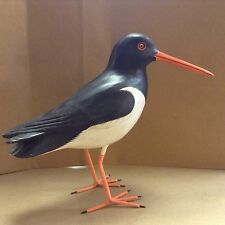 hand carved and painted American Oyster Catcher