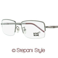 Montblanc Semi-Rimless Eyeglasses MB440 008 Size: 55mm Gunmetal/Burgundy 440