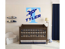 Rocket Name Wall Decal Monogram #2 Boys Nursery Room Vinyl Wall Graphics Bedroom