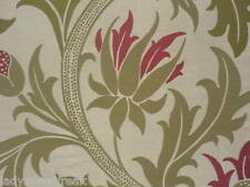 William Morris Curtain / Upholstery Fabric PLANET 5.2m Ivory/Rose Weave Design