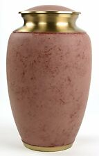 ADULT PINK CREMATION URNS, LARGE NEW FUNERAL URN FOR HUMAN ASHES,