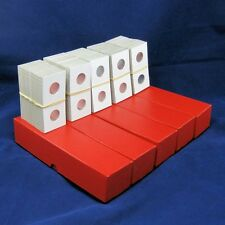 500 Cardboard 2x2 Mylar Coin Holders for Nickels with 5 Storage Boxes