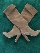 Aldo Brown Suede Over The Knee High Boot Size 61/2