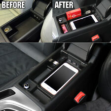 Fit For 2016 2017 Audi A4 Center Console Storage Box Armrest Phone Bin Tray