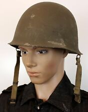 (2) VINTAGE M51 FRANCE FRENCH ARMED FORCES HELMET DATED 1955