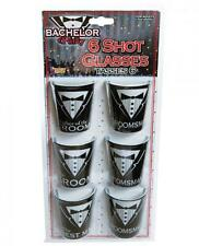 Bachelor Party Shot Glasses 6 Pack Set Groom Best Man Groomsmen Dad Father