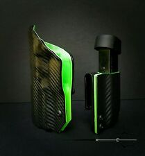 H&K Hk45c Black Carbon Fiber Green Inside Kydex IWB holster Veteran Made