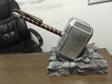 Thor's Replica Hammer +Stand Base H-Q Arrived The Avengers Cosplay Resin Prop
