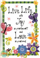 Embroidery Mini Kit ~ Dimensions Live Life With Joy & Love Butterflies #6231